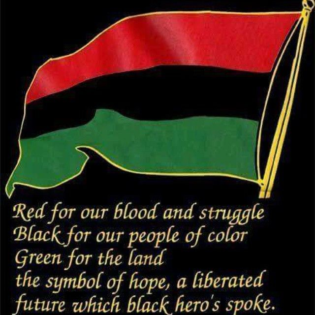The Red Black And Green Flag Enlightened Pinterest Red Black