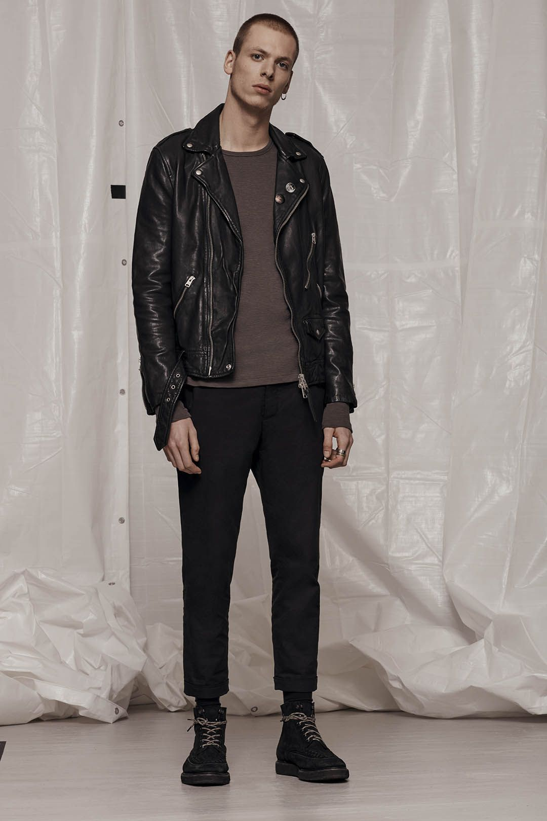 Allsaints Men S January Lookbook Look 5 Volt Leather