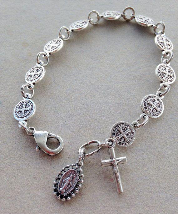 2bd1cc84605a St. Benedict Rosary Bracelet - Classic