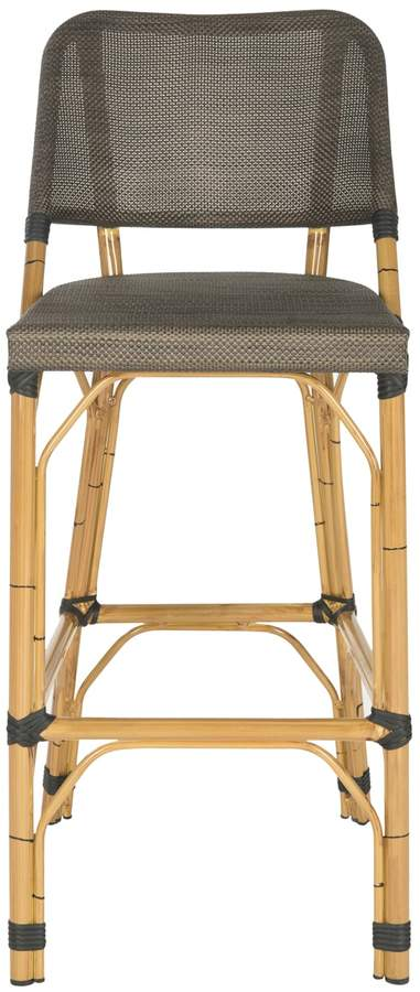 Safavieh Detlana Bar Stool With Images Patio Bar Stools Bar Stools Wicker Bar Stools