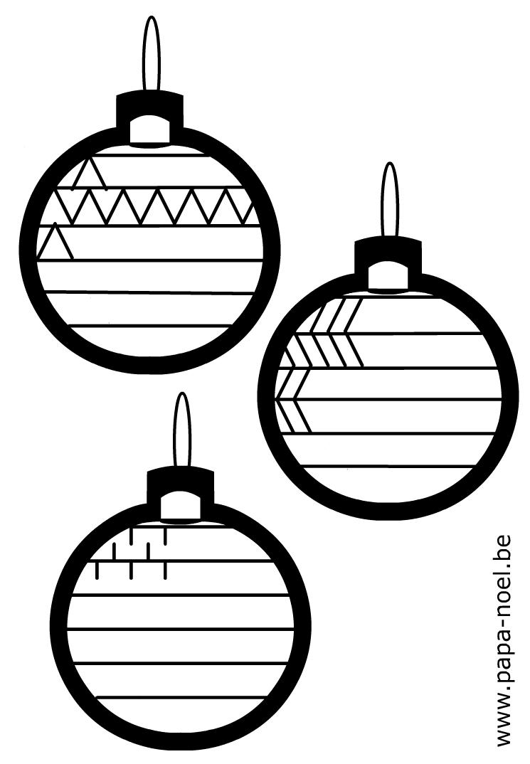Noel coloriage de boule de noel gratuit imprimer - Boules de noel a colorier et imprimer ...
