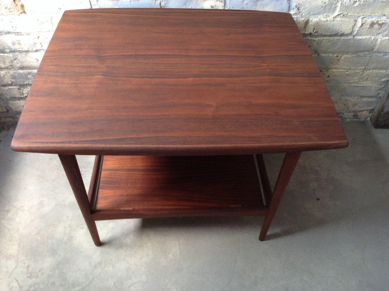 Vintage Moreddi Side End Table   Modern Danish Teak Side Table   Mid  Century Teak Table