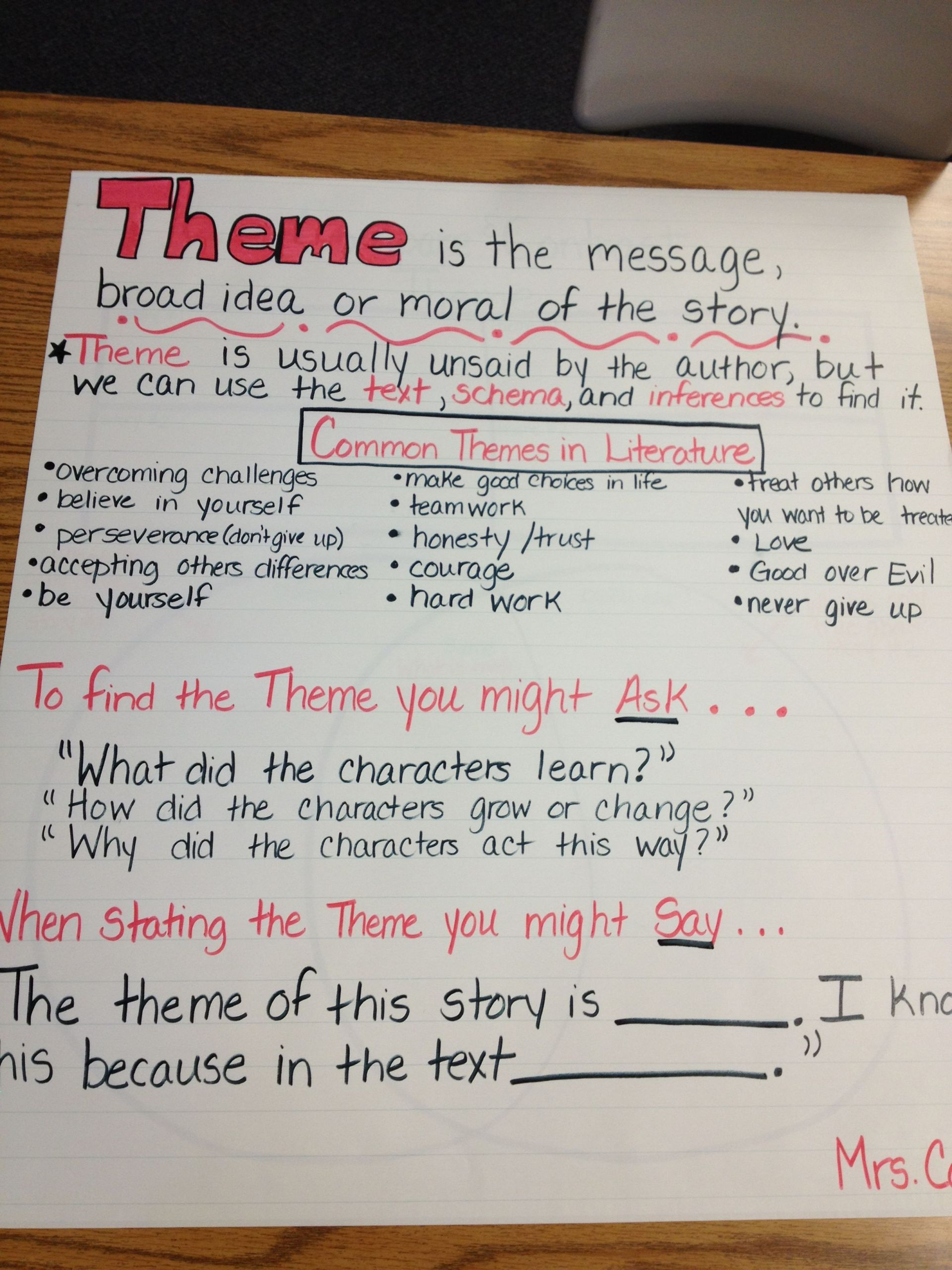 6 Theme 4th Grade Reading Worksheets In