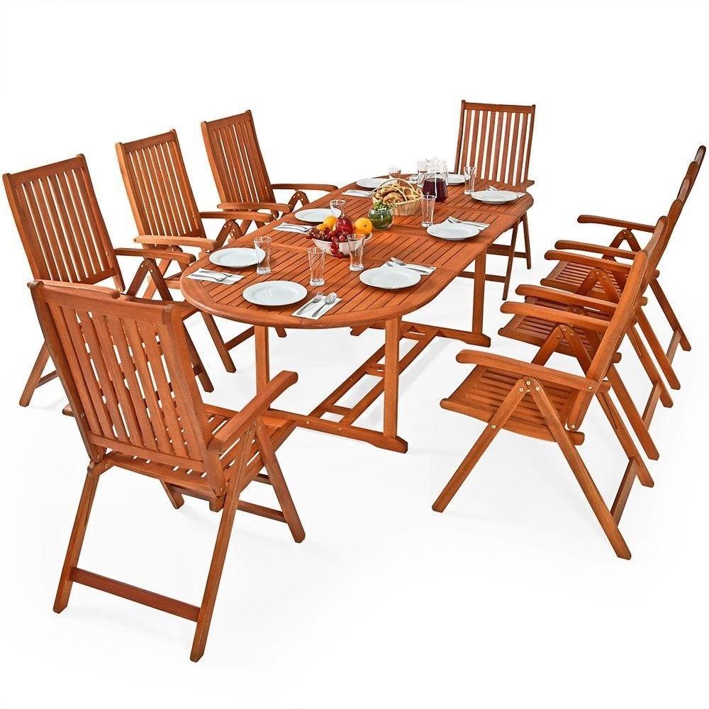 Outdoor 8+1 Sitzgruppe Essgruppe Mit 8 Klappbaren Stühlen Klappbarer Tisch  Neu