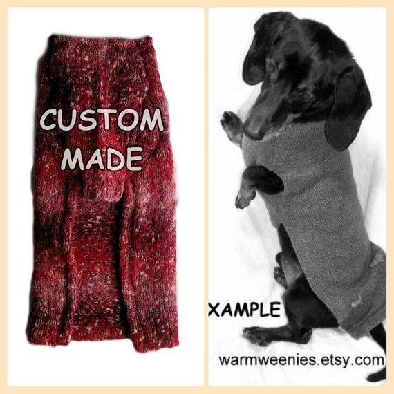 Dachshund Sweater Pullover Jumper Custom Made Of Alpaca Mohair