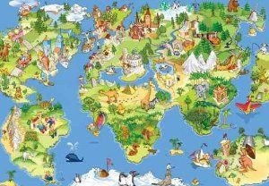 I love this global map the pictures of more kid friendly and the i love this global map the pictures of more kid friendly and the color palette gumiabroncs Choice Image