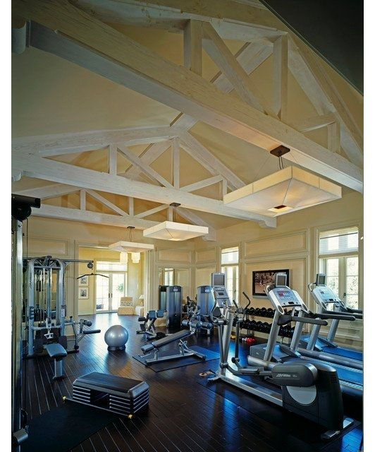 Home Gym Design Ideas Basement: Large And Spacious Home Gym-Home And Garden Design Ideas