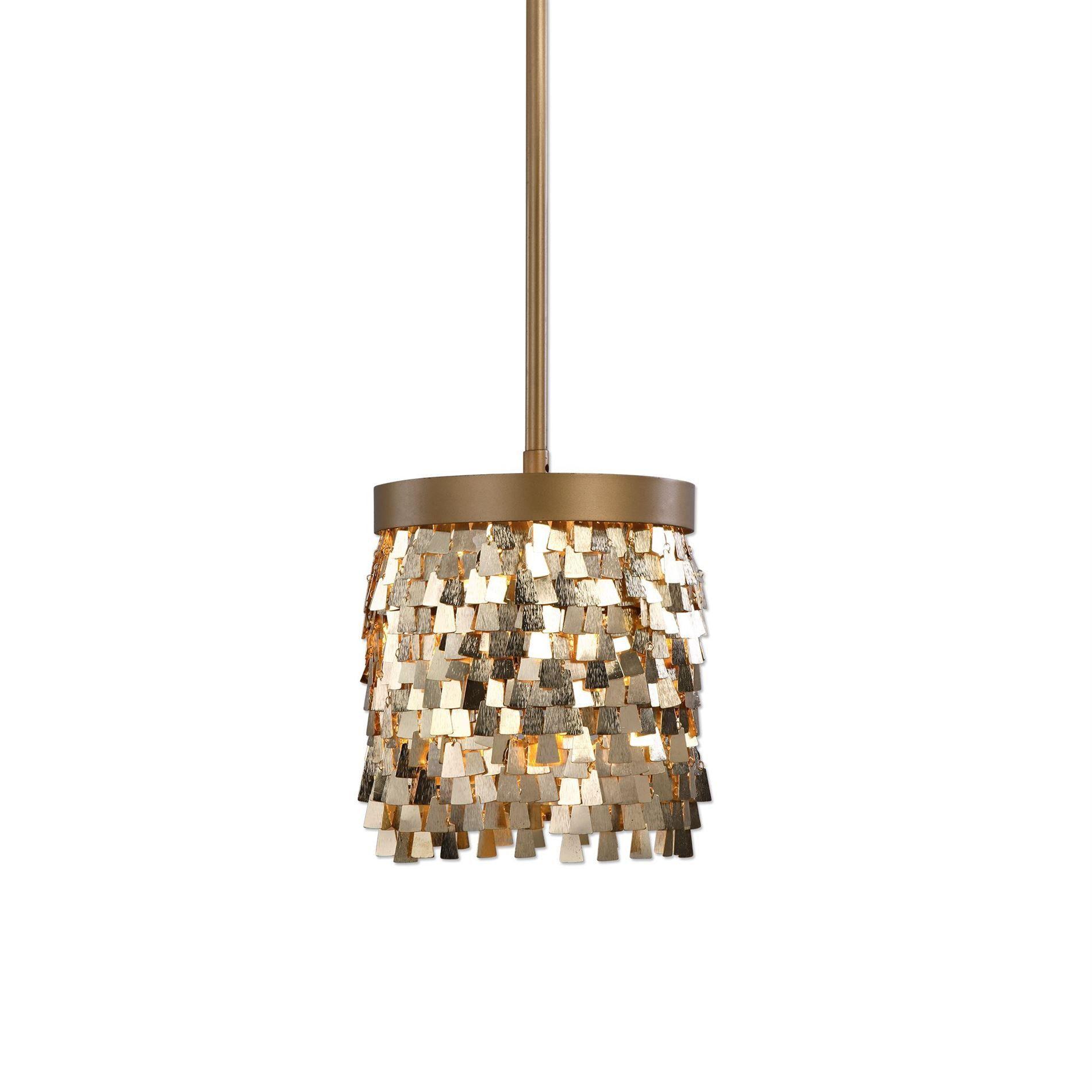 Tillie gold 1 light mini pendant lighting fixture by uttermost tillie gold 1 light mini pendant lighting fixture by uttermost arubaitofo Gallery