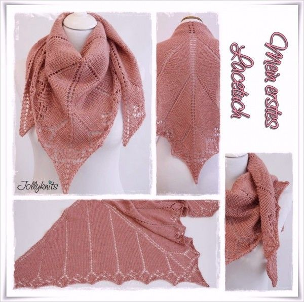 gratis Strickmuster Lace-Tuch // Lace-Schal | Lace-Tücher ...