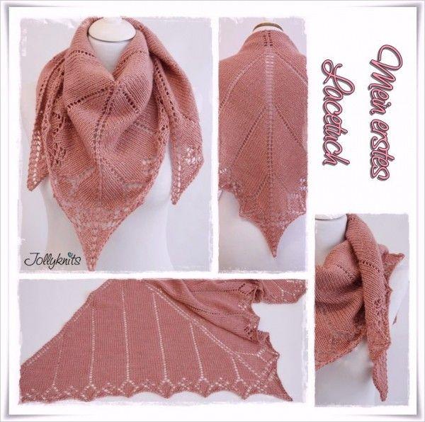 gratis Strickmuster Lace-Tuch // Lace-Schal | stricken | Stricken ...