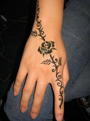 38 Best Henna Rose Tattoo images | Henna, Tattoos, Rose henna |Realistic Rose Tattoos Henna Designs