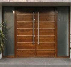 wood front double doors google search - Modern Exterior Double Doors