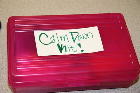 Calm Down Kit - helps kids get control of their emotions.  Great idea!