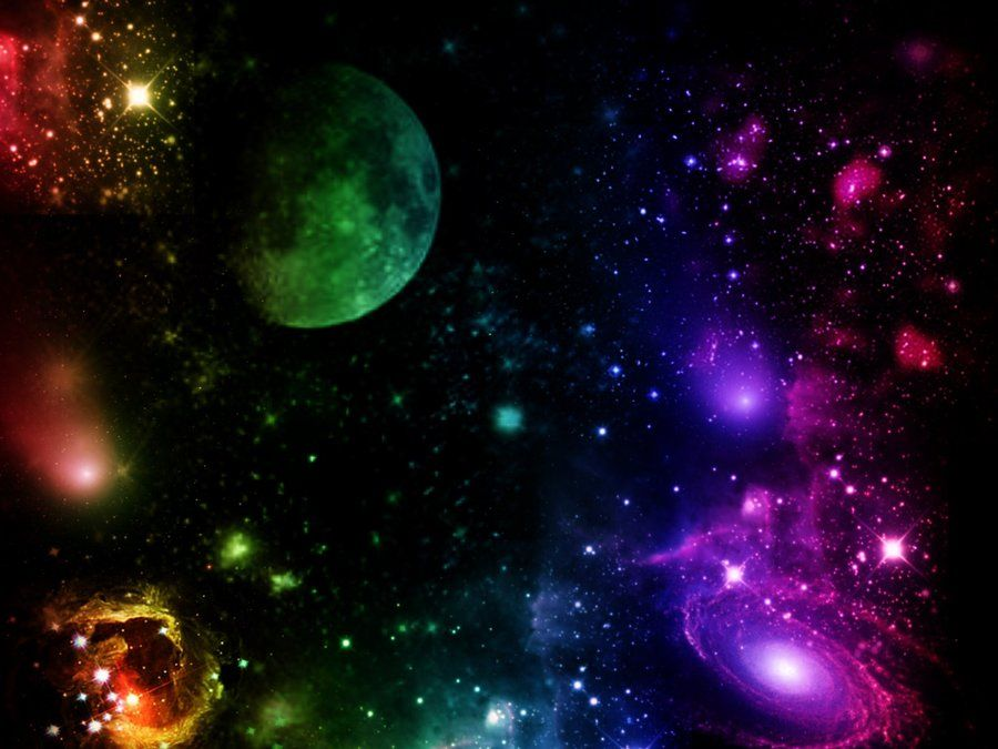 Cosmic Galaxy Background Backgrounds Desktop Night Skies