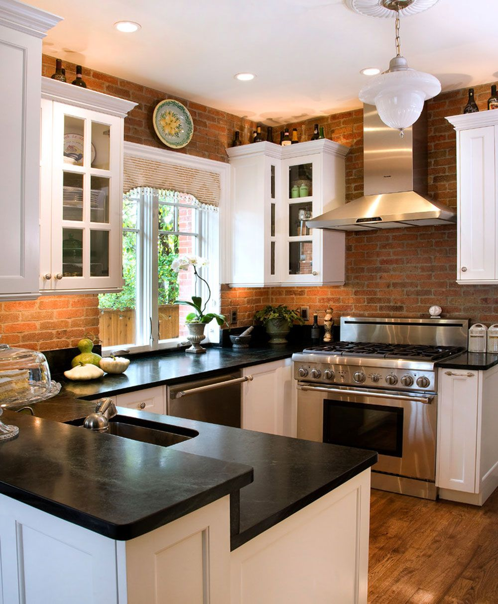 Modern Brick Backsplash Kitchen Ideas Exposed brick