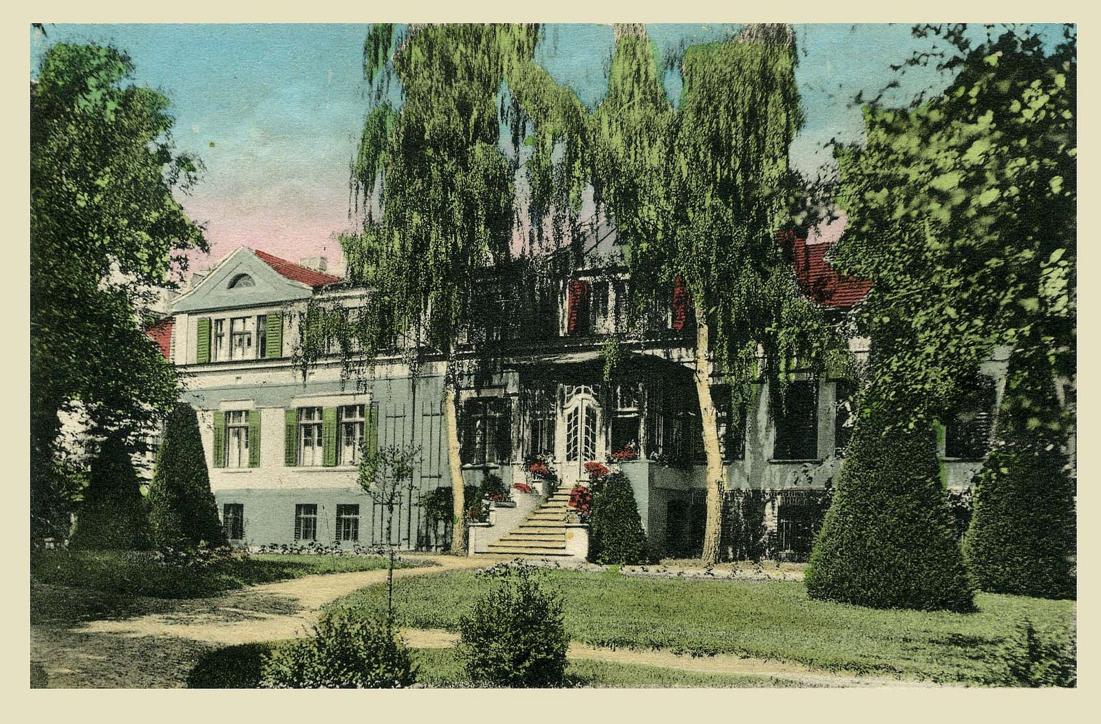 https://flic.kr/p/pic9UL | Gutshaus Landhof Gartenseite farbig 1927 | Landhof Historisch