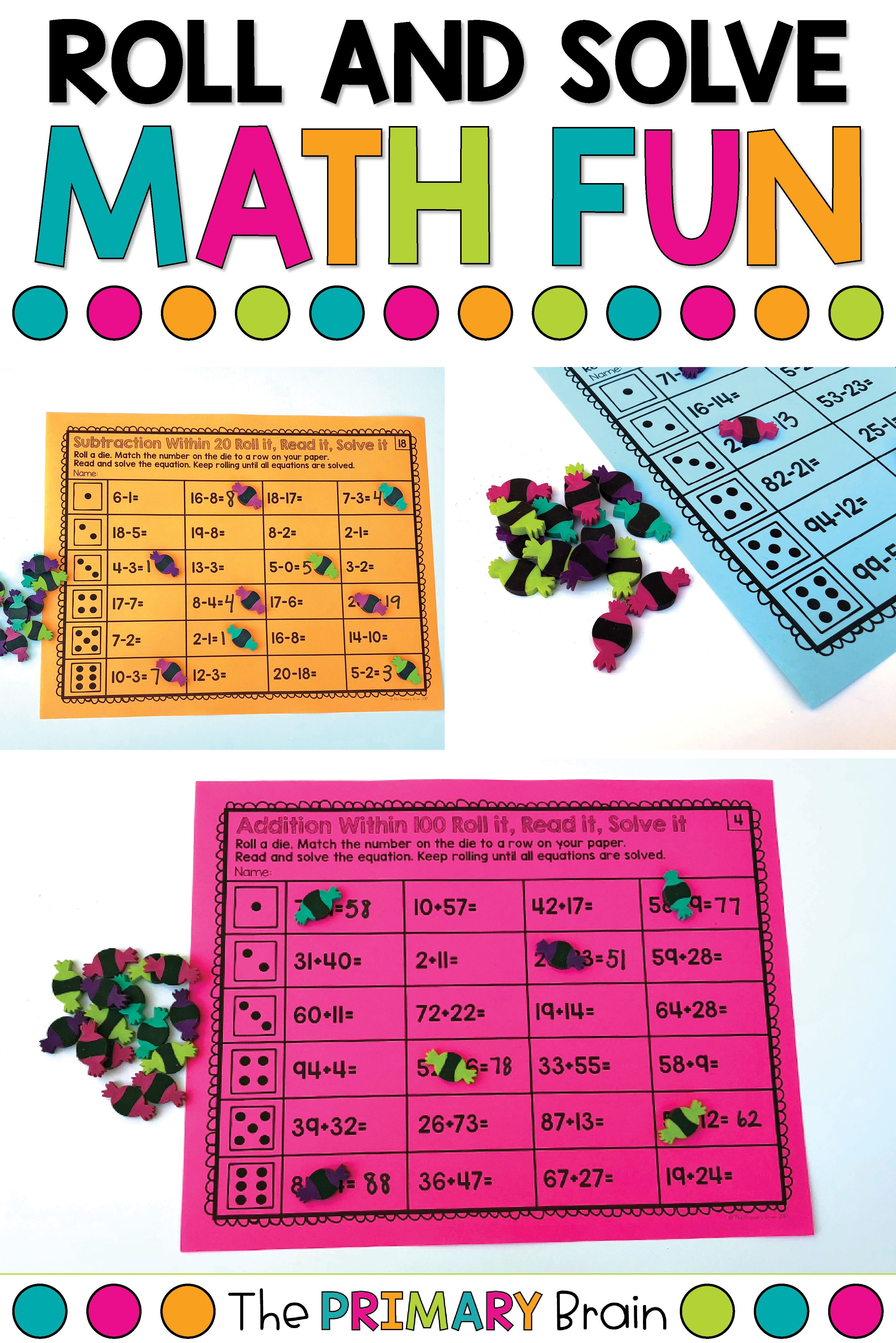 Work On Addition And Subtraction Through A Fun Math Roll