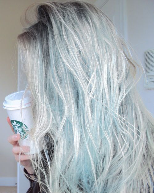 The Pale Blue Color Tumblr Hair Hair Styles Pastel Hair