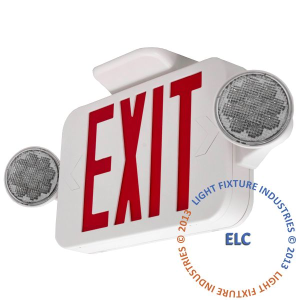 Exit Light Combo Red Compact ** ALL LED ** High Output