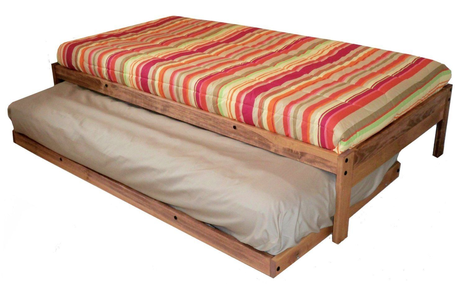 Amazon.com: Santa Cruz Extra Long Twin Bed with Twin Trundle ...