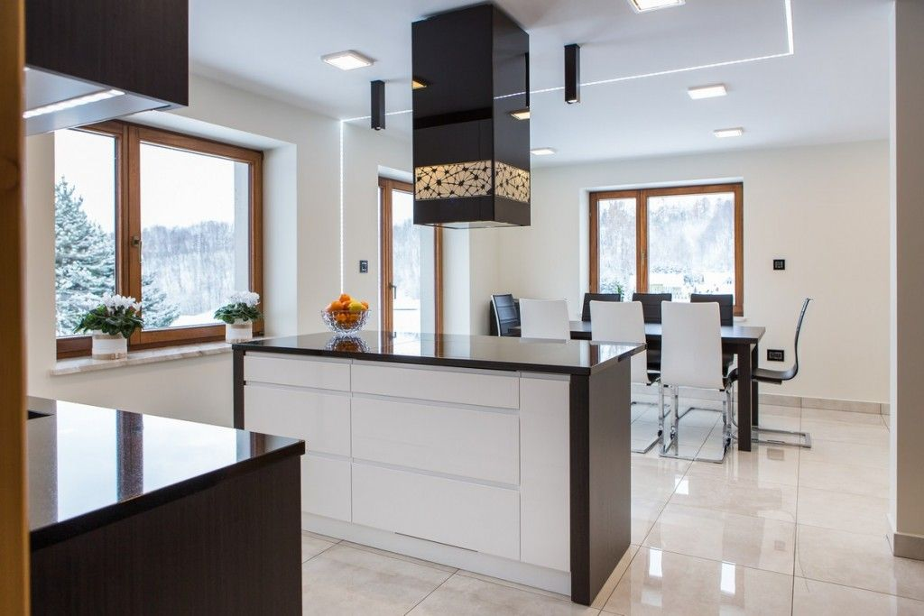 Best Modern Kitchen With Pure White High Gloss Cabinets Gloss 400 x 300