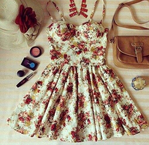 Floral summer dress #cute