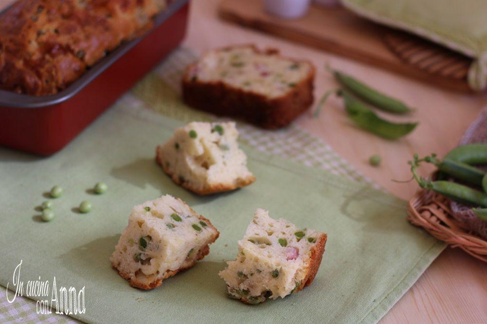 Il plumcake salato piselli e pancetta è un rustico molto ricco e saporito,si prepara in pochissimo tempo e non deve lievitare...
