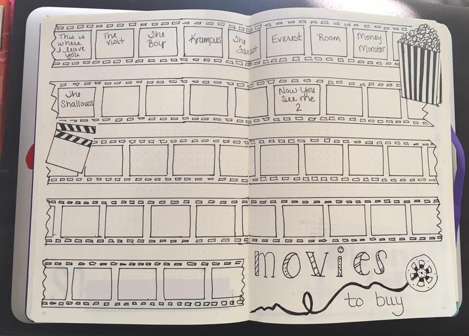 Movie Spread Bullett Journaling Bulle