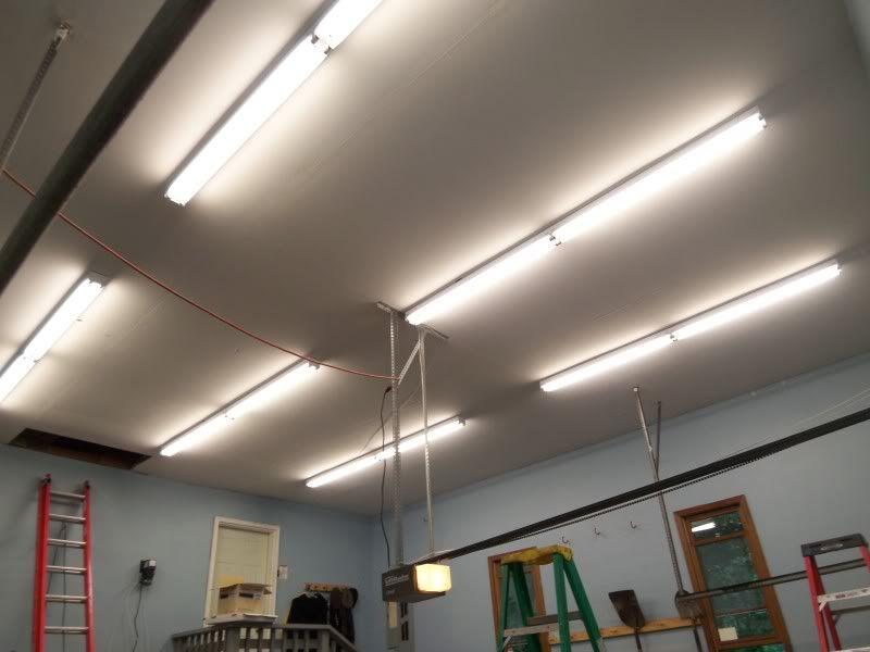 Cheap Garage Fluorescent Lighting Ideas   Garage lighting, Solar garage  lights, Garage light fixturesPinterest