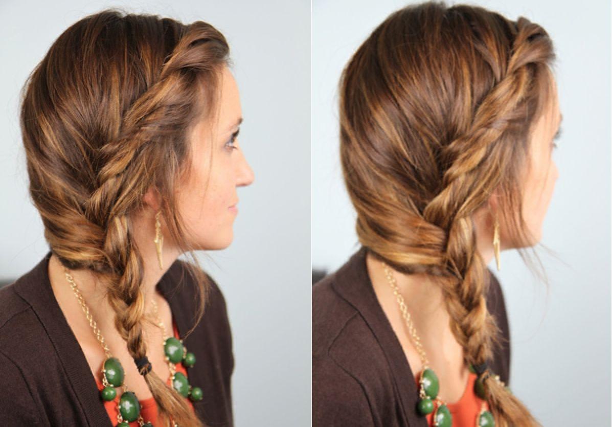 Subtle twist into side braid decorating ideas pinterest hair
