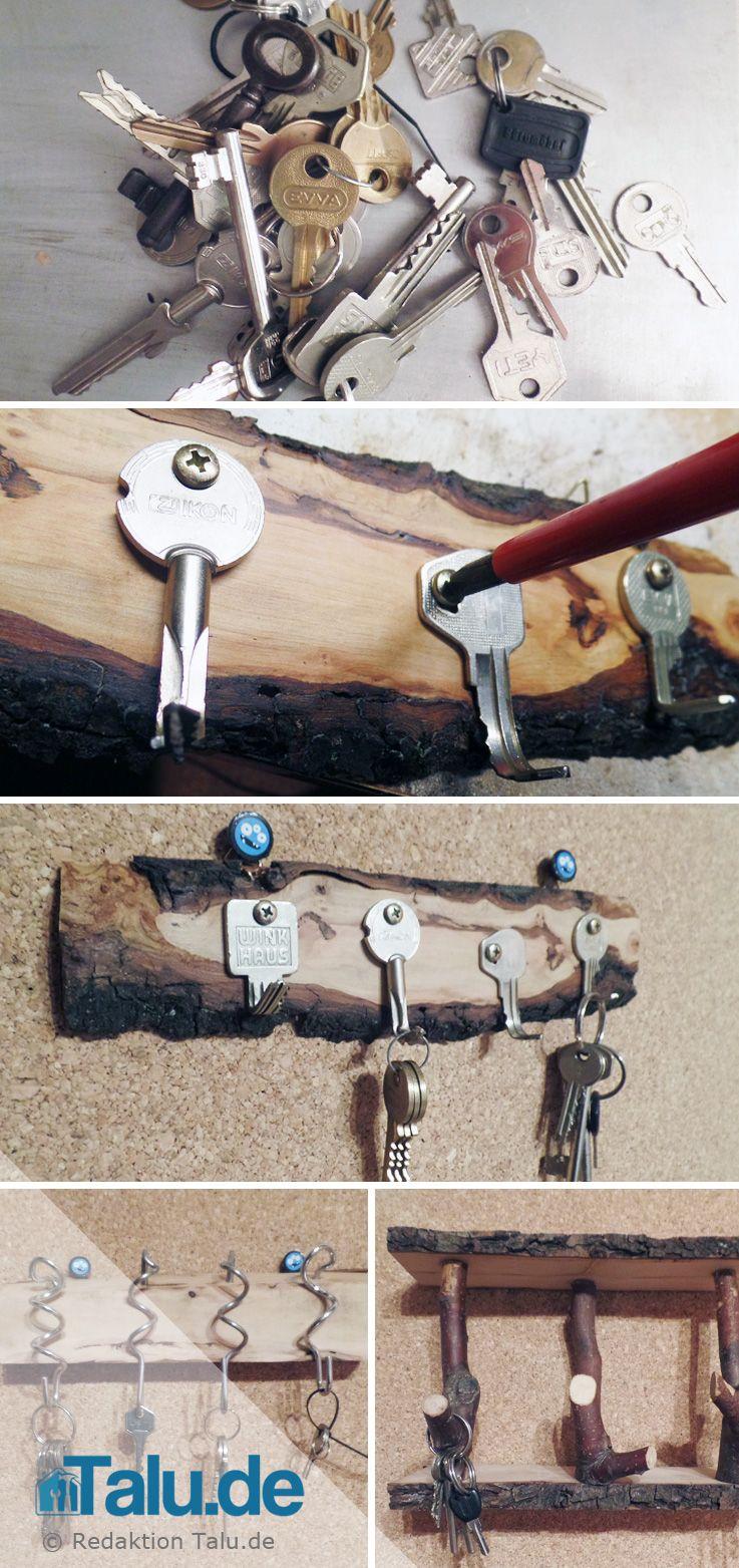 schlüsselbrett aus holz selber machen | pinterest | schlüsselbrett