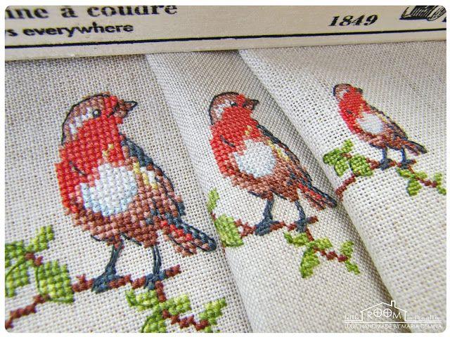 Комнатка с мансардой / Little room in the attic: Весенние птичковые зарисовки и схема в подарок / Spring Birds and freebie