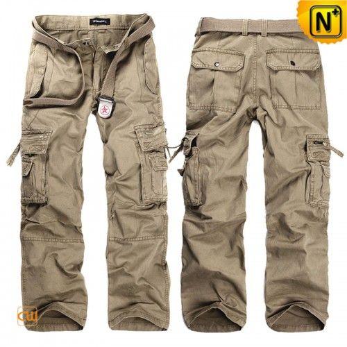 Mens Loose Fit Long Cargo Pants CW140288
