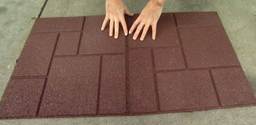 Recycled Tires Tyres Recycle Rubber Patio Tiles Flooring