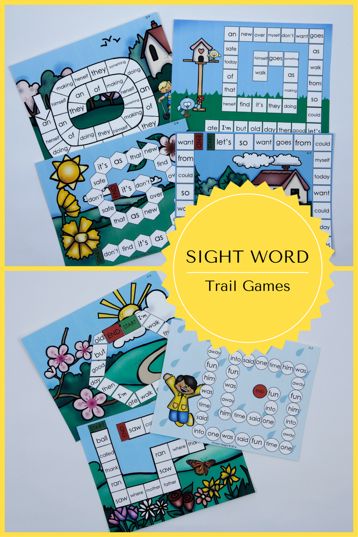 Sight Word Games for Kindergarten - Spring (Level D) | Word games ...