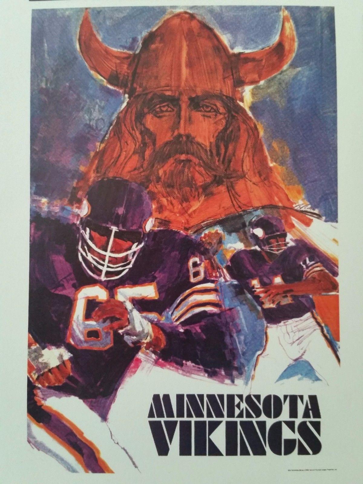 Vintage Nfl Collectors Series 1968 71 Poster S Minnesota