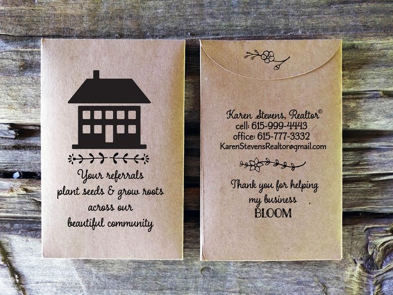 Real Estate Agent cards gift basket, House Sales L