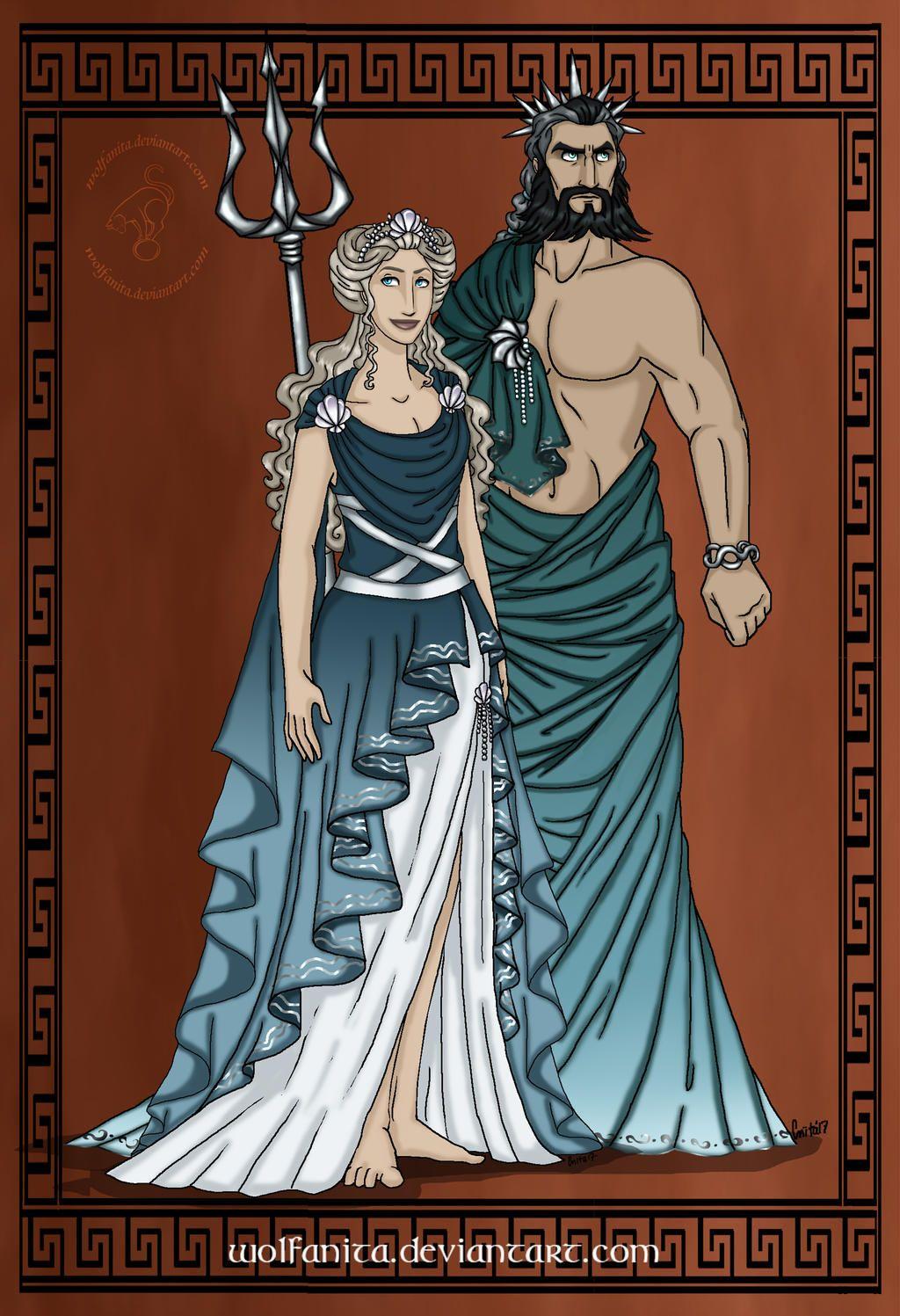 Godsofancientgreececouples Poseidon And Amphitrite By