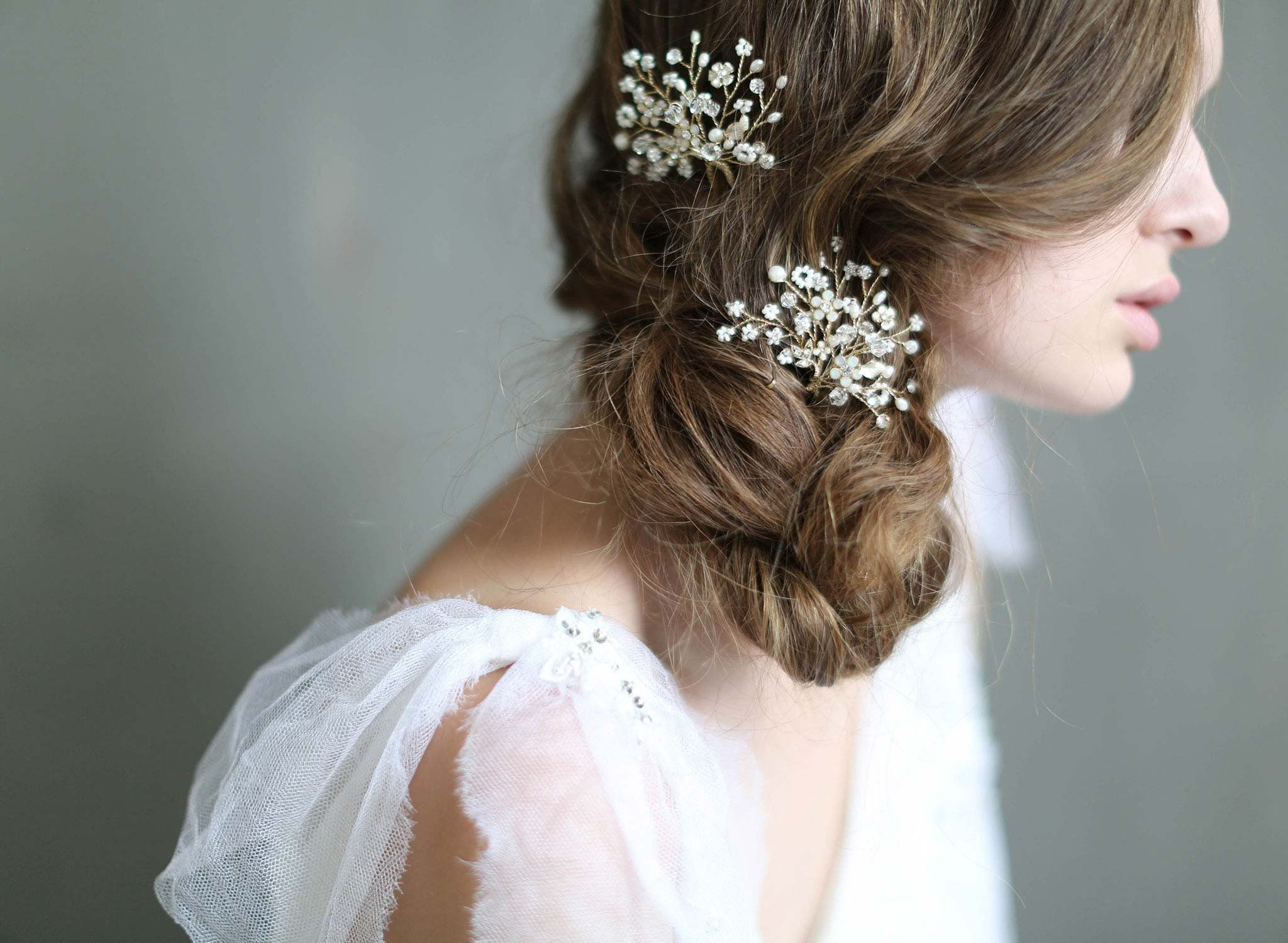 Shimmering blossom burst hair pins Style Accessories Hair