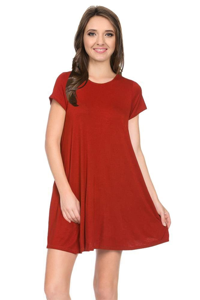 Trapeze Swing Dress with Pockets
