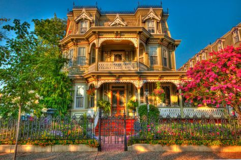 Victorian House, Cape May, New Jersey Shore, Color Photograph, Art Print, Vintage, HDR Photograph, H