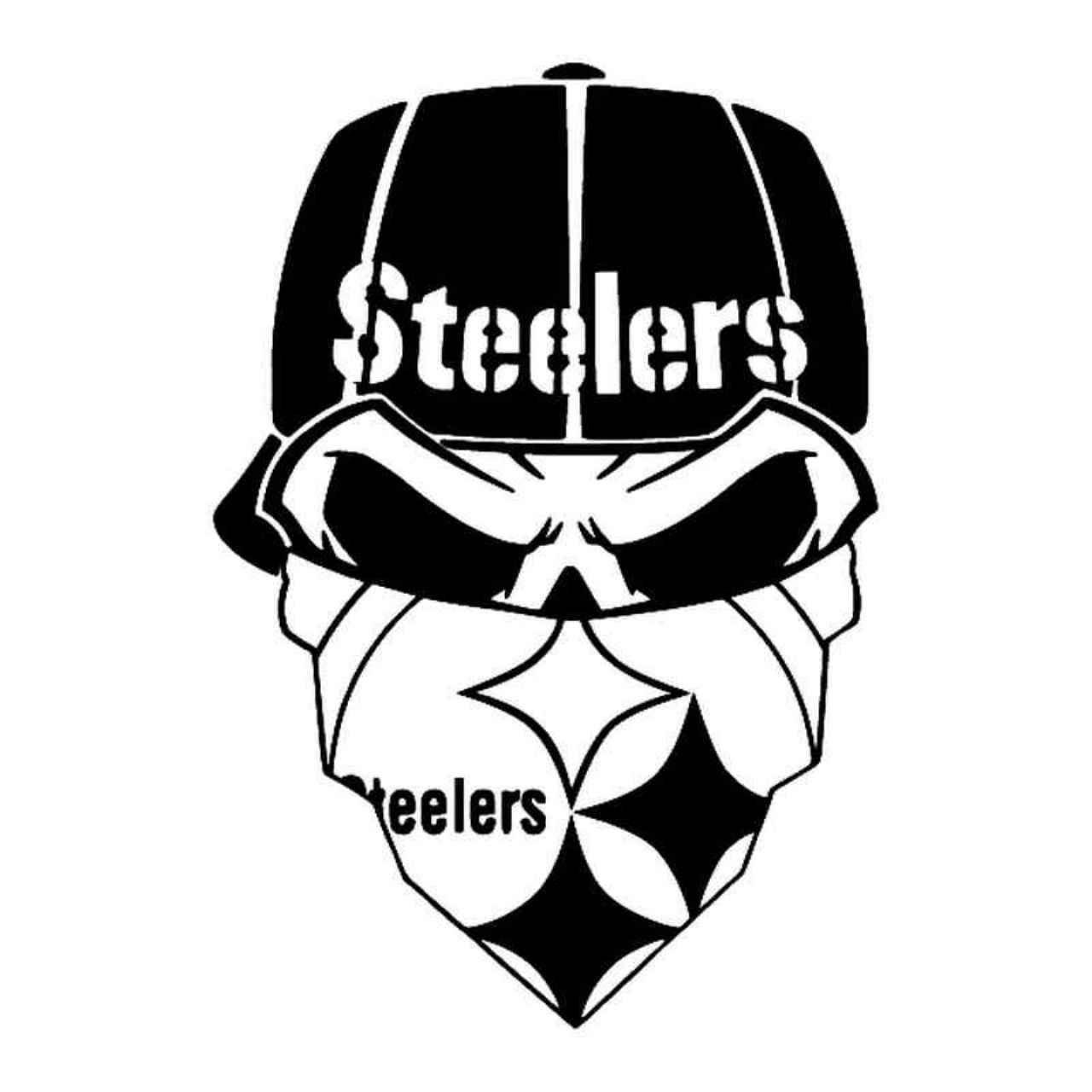 Steelers Skull Maskouter Vinyl Decal Sticker Ballzbeatz