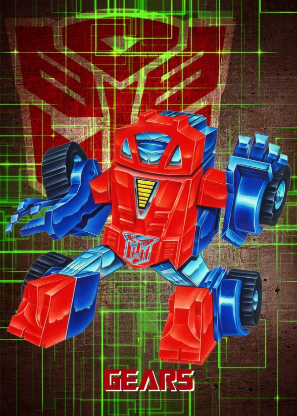 "Transformers G1 Autobots Gears #Displate artwork by artist ""Wiebes"". Part of a set featuring… 