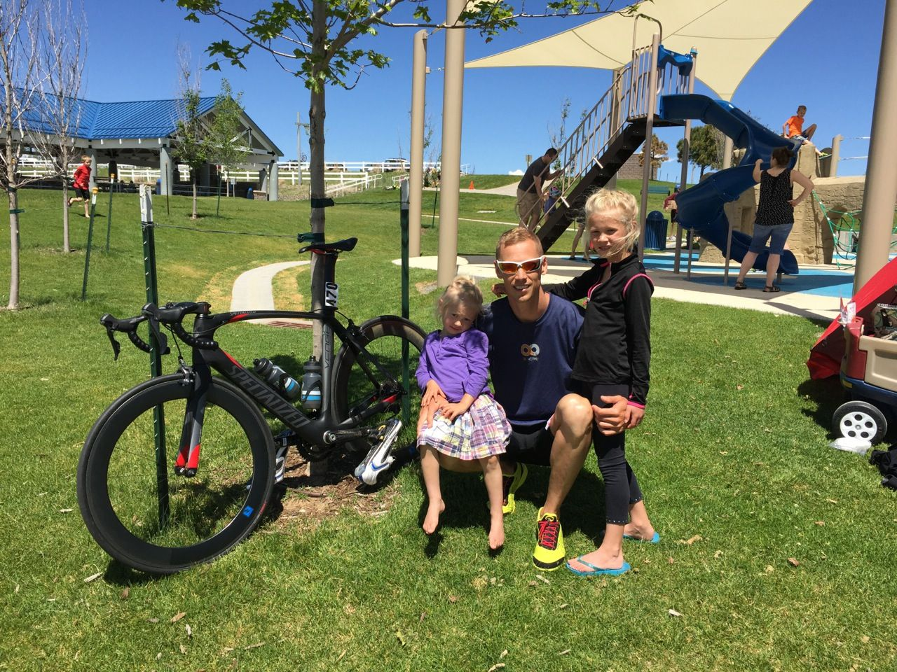 What a great weekend to get out and #BeActive! Micah Worrell and his daughters hit the bike trail and the playground!