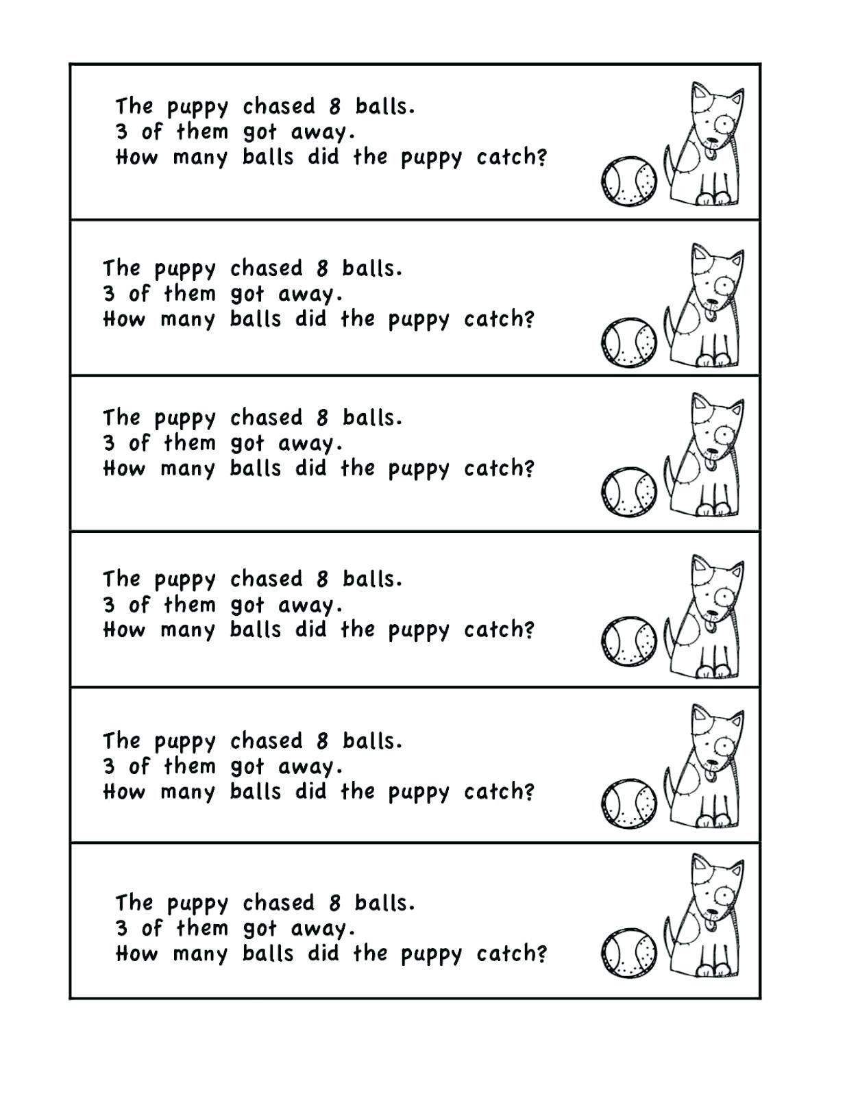 7 Math Problems For Grade 1