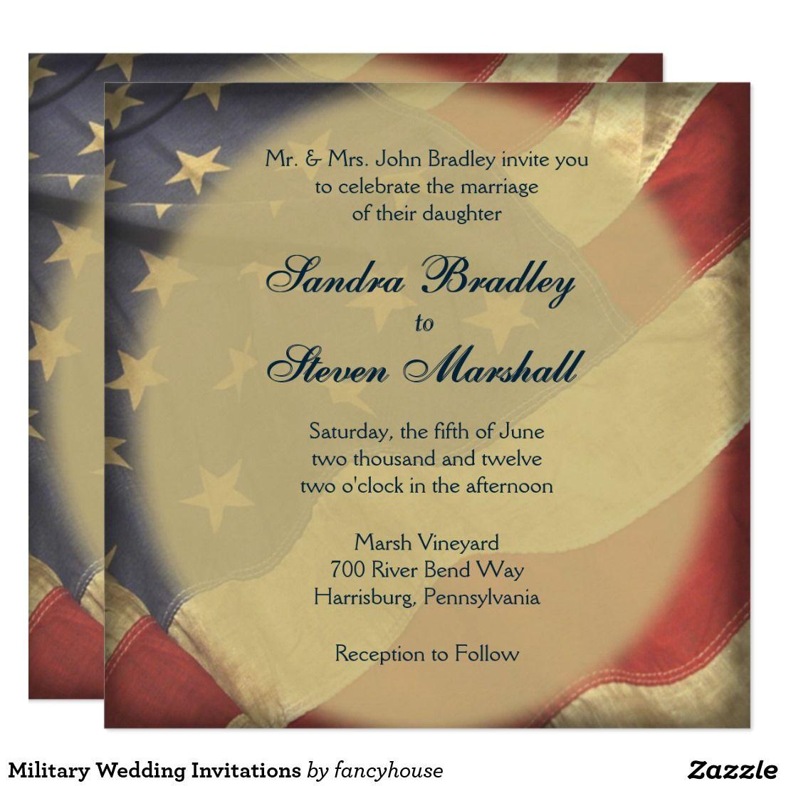 American flag wedding invitations flags american flag wedding invitations kristyandbryce Images