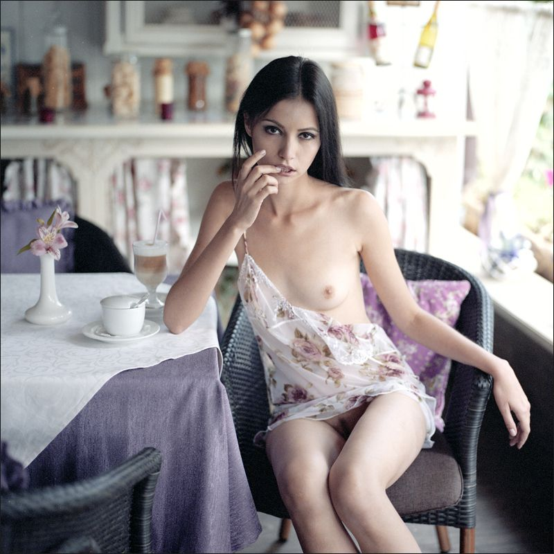 sexy naked girl coffee