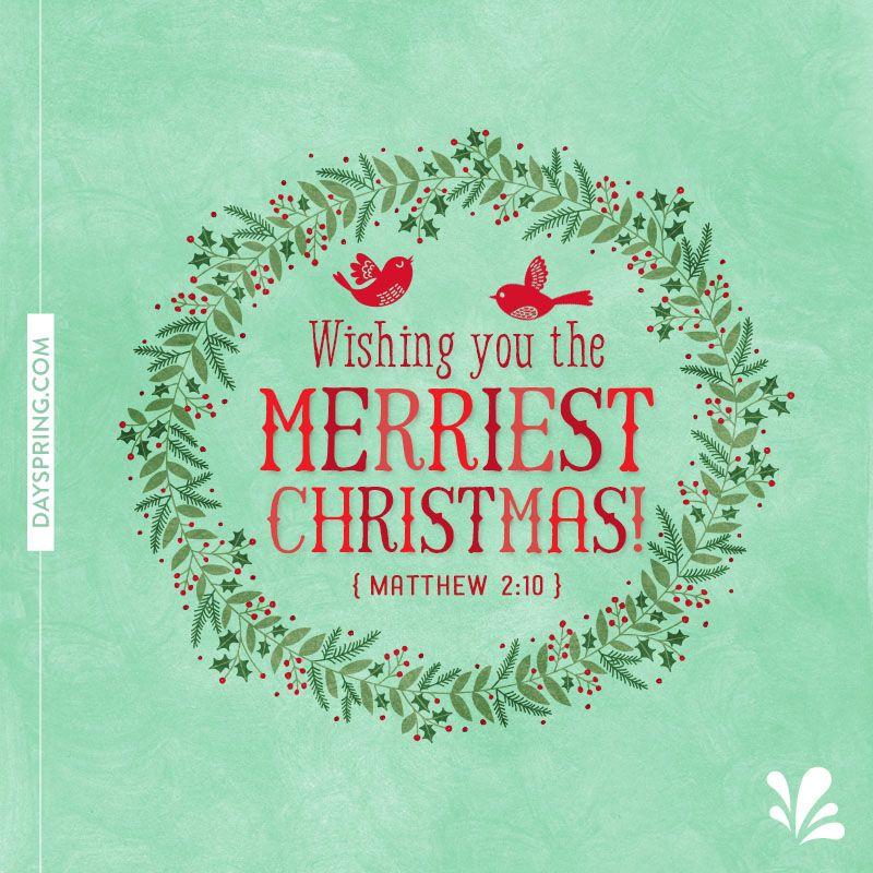 Wishing you the merriest Christmas! Christmas greetings