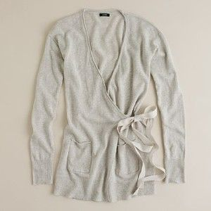 Women's new arrivals - sweaters - Linen-cotton wrap cardigan ...
