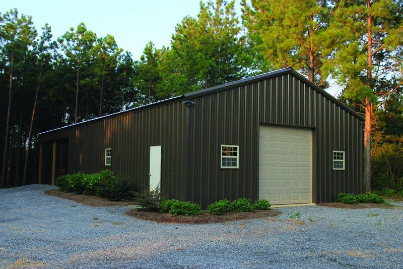 Best Burnished Slate 30 X 40 Pole Barn Metal Building Metal 400 x 300